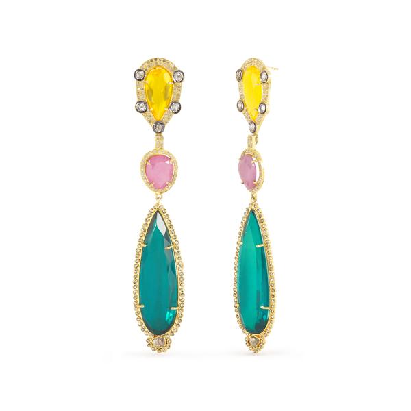 Multicolored Drop Earrings