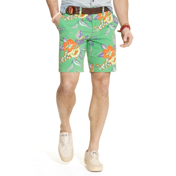 Straight-Fit Floral Short