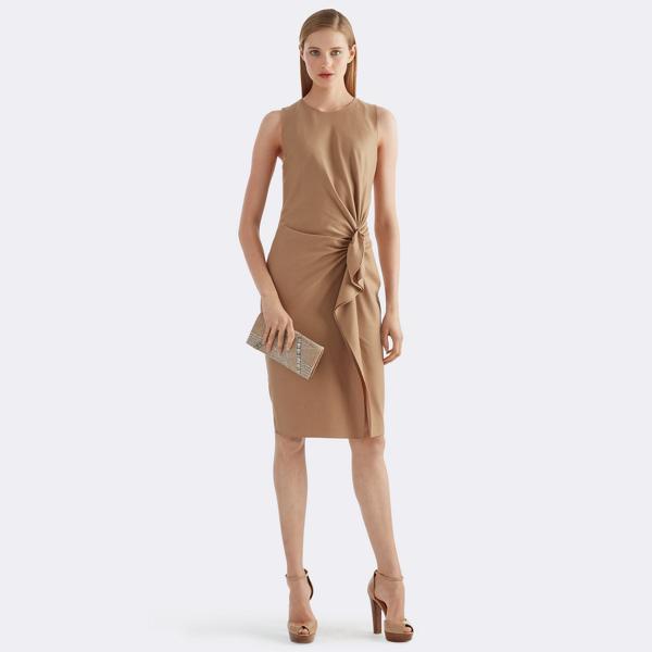 Eliza Ruffled Wool Dress