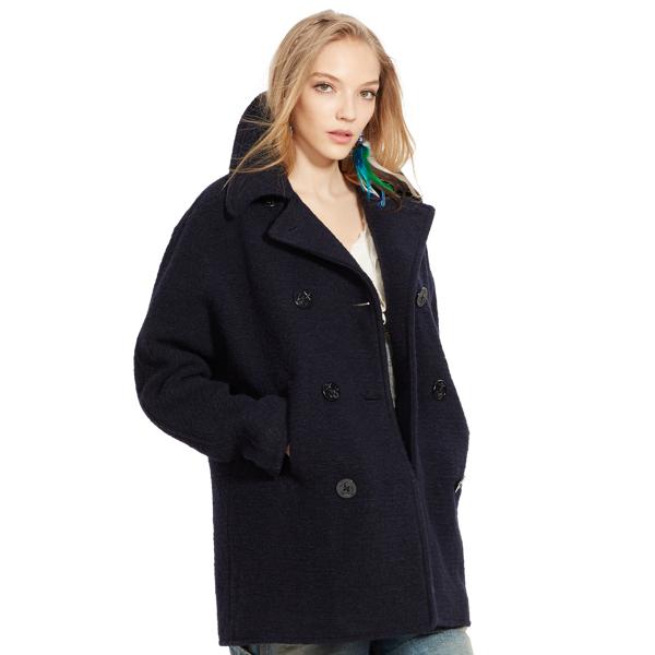 Wool-Blend Pea Coat