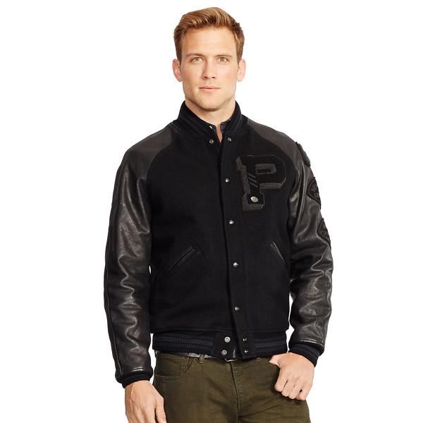 Leather-Sleeved Wool Jacket