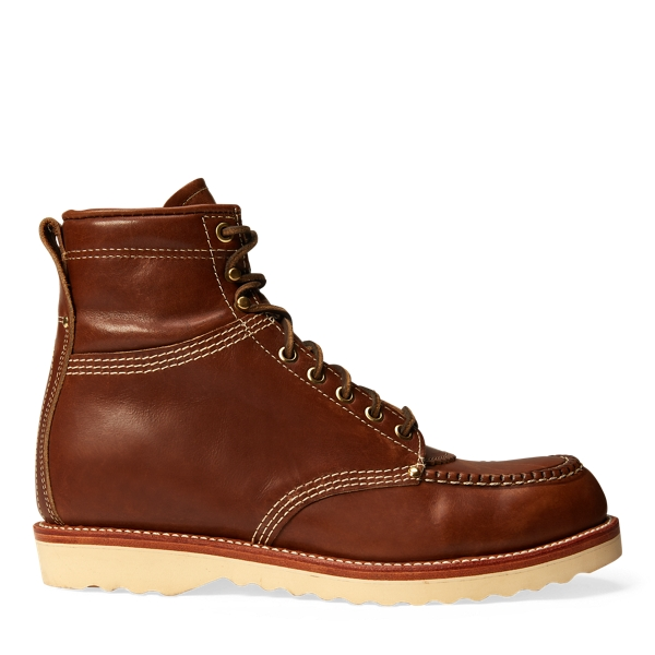 Brunel Leather Work Boot - Boots Shoes - RalphLauren.com