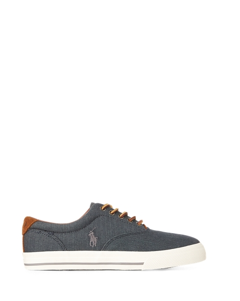 Polo Ralph Lauren Vaughn Herringbone Sneaker - Denim or Dark Khaki