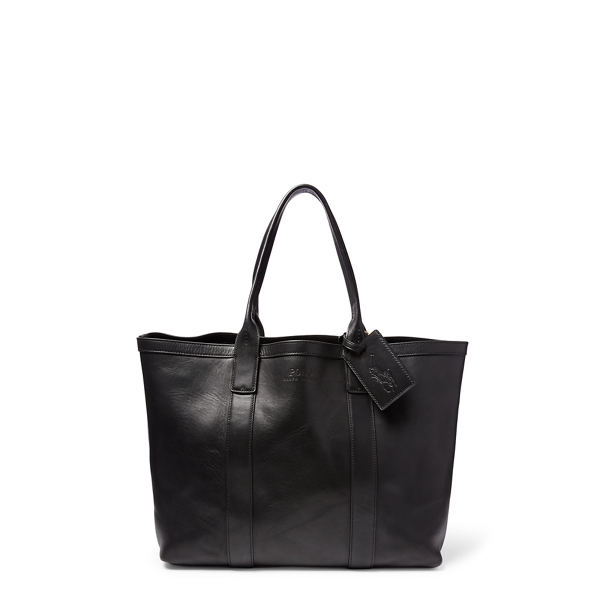 Classic Leather Tote - Totes Bags & Leather Goods - RalphLauren.com