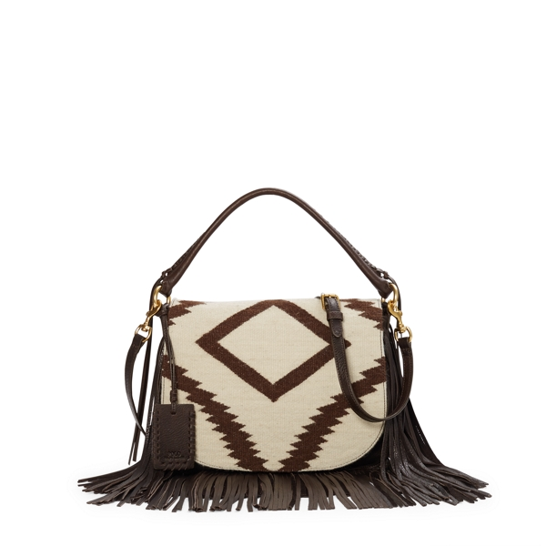 Leather-Trim Cross-Body Bag