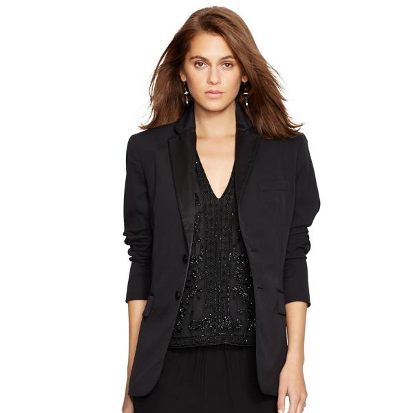 Wool Two-Button Tuxedo Jacket