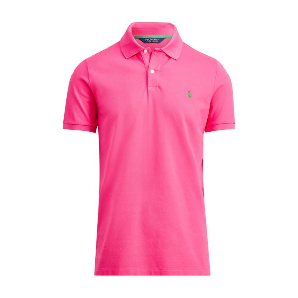 Custom Fit Stretch Mesh Polo - Custom Slim Polo Shirts ...