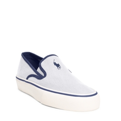 Polo Ralph Lauren Mytton Canvas Sneaker - Pure White or Newport Navy