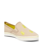 Ralph Lauren Lauren Janis Womens Slip-On Sneaker - Khaki/Yellow or Green/Brown