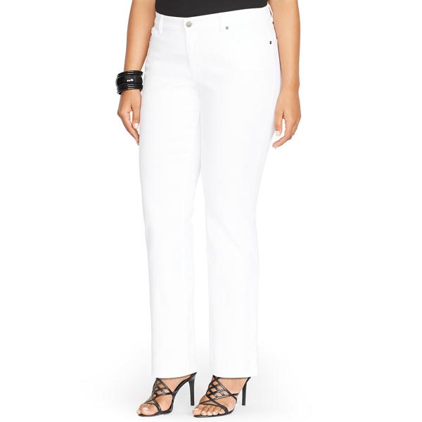 Modern Straight Curvy Jean - Straight Jeans - RalphLauren.com