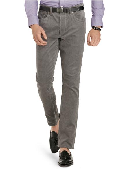 grey corduroy pants men - Pi Pants