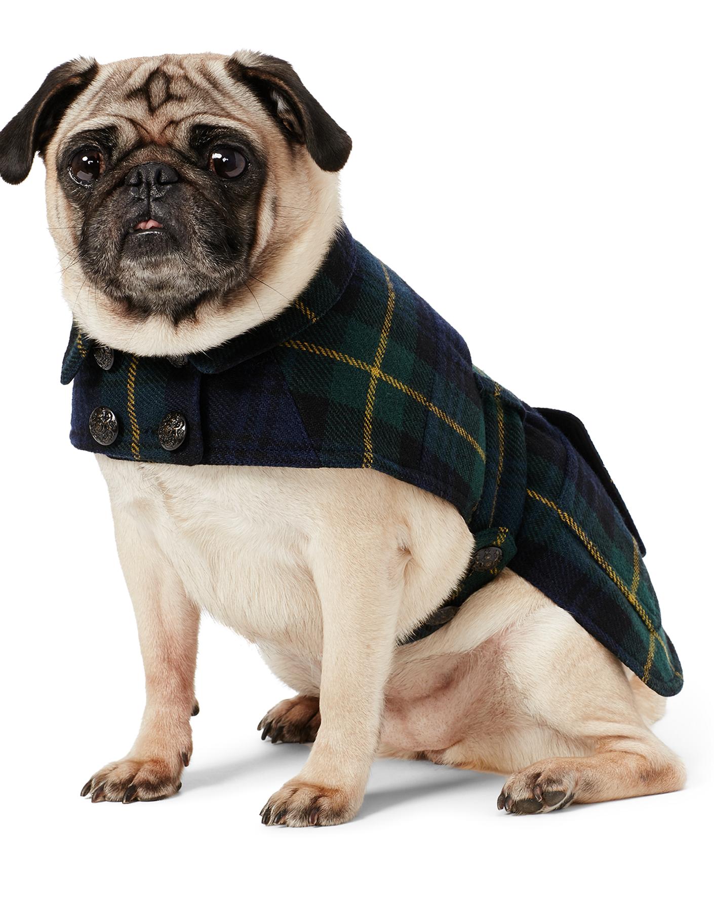 Leather jacket for dogs - Tartan Wool Blend Dog Coat Ralph Lauren Pet The Pup Shop Ralphlauren