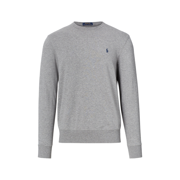 mens polo outlet riqc  Cotton-Blend-Jersey Sweatshirt