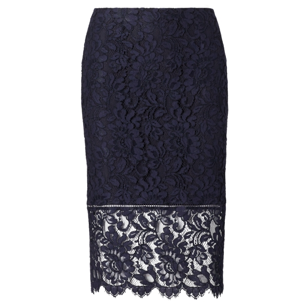 Lace Pencil Skirt - Midi Skirts - RalphLauren.com
