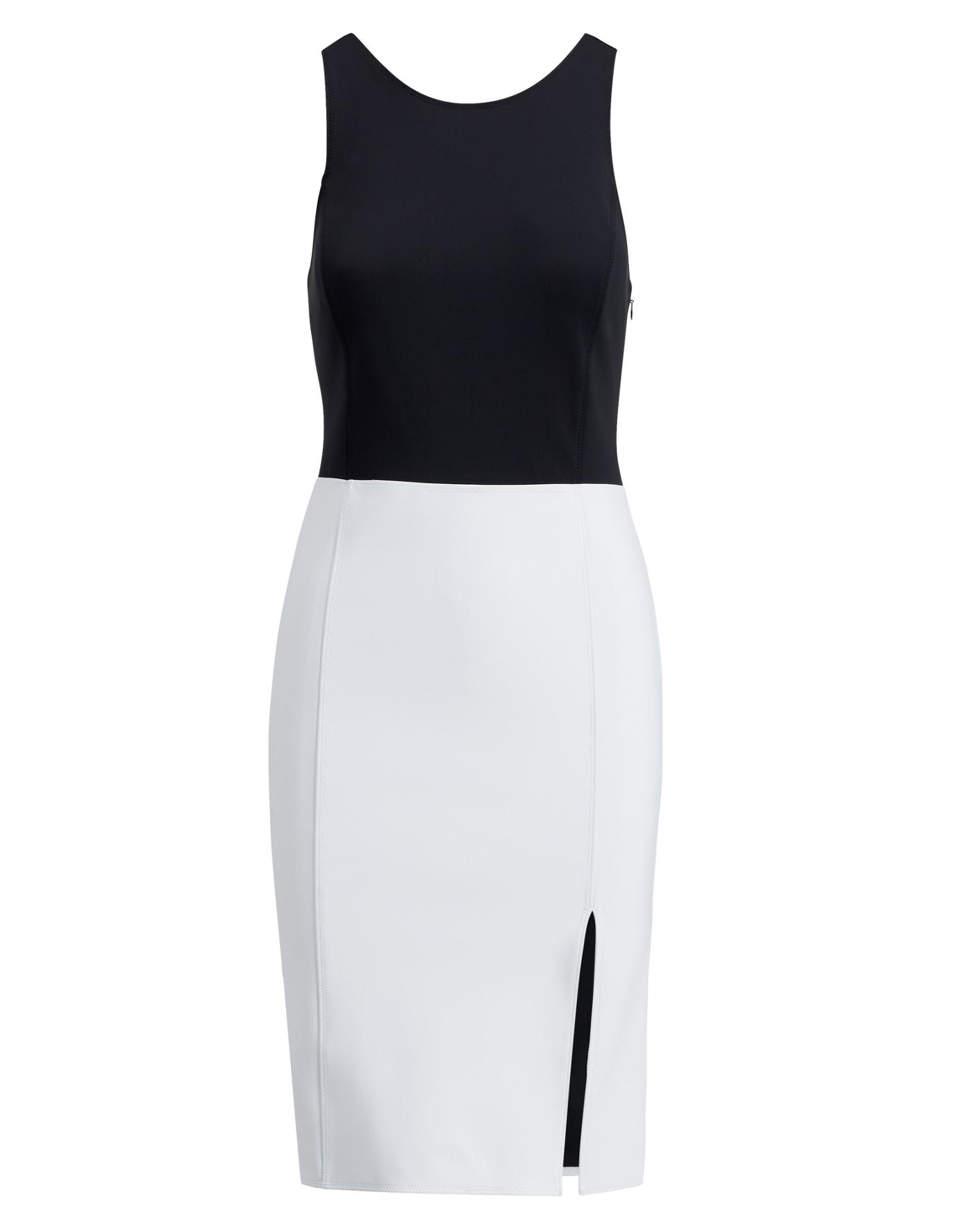White dress cocktail - Two Tone Sleeveless Dress Polo Ralph Lauren Midi Ralphlauren Com