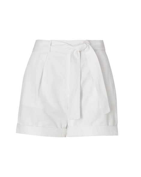 Cotton-Linen Belted Short - Shorts Pants, Jumpsuits & Shorts ...