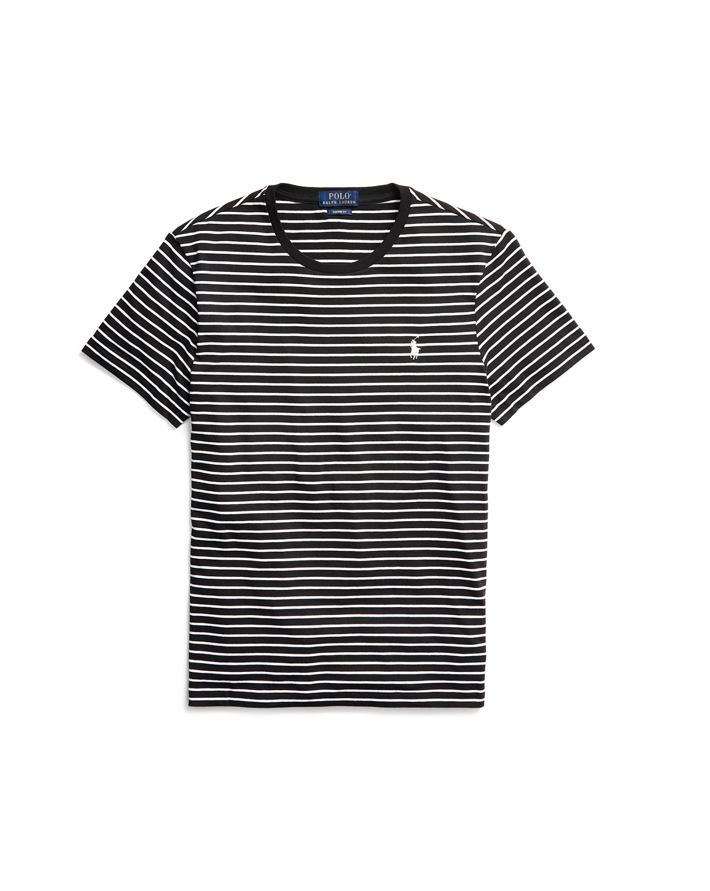 Black t shirt with white stripes - Striped Cotton Hooded T Shirt Polo Ralph Lauren Tees Ralphlauren Com