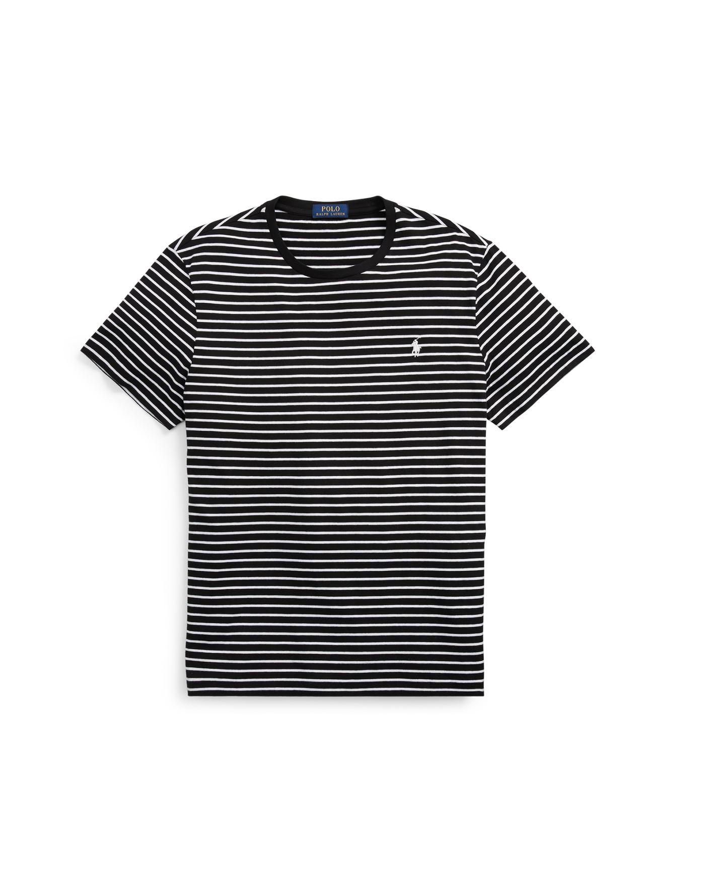 Black and white striped t shirt xxl - Striped Cotton Jersey T Shirt Big Tall Tees Ralphlauren Com