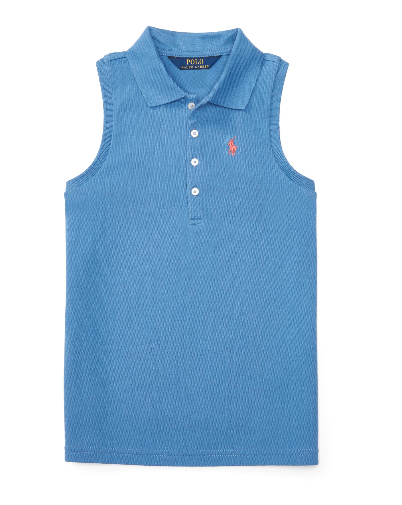 Ralph lauren polo bedding for girls - Stretch Sleeveless Polo Shirt Girls 7 16 Short Sleeve Ralphlauren Com
