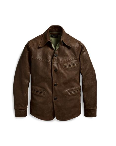 Leather Car Coat - Coats Jackets & Coats - RalphLauren.com