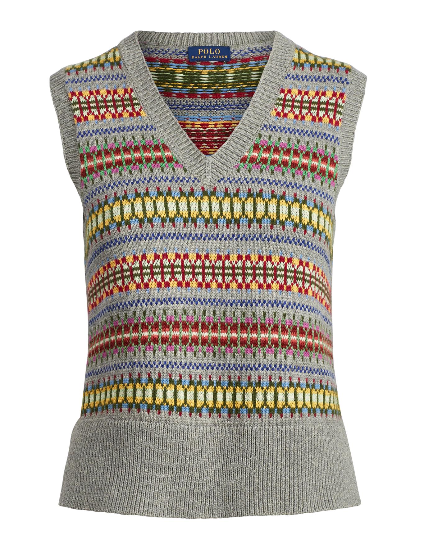Fair Isle Sweater Vest - Polo Ralph Lauren Cashmere - RalphLauren.com - Women's V-Neck Sweaters - Knit, Wool, Cashmere Ralph Lauren