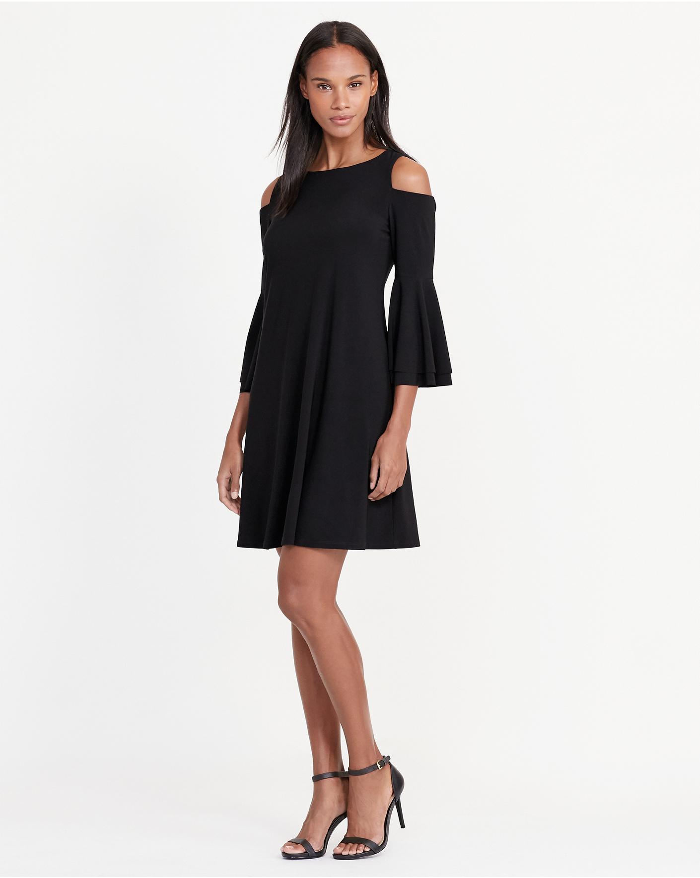 Black dress navy blazer - Cutout Shoulder Jersey Dress Lauren Short Ralphlauren Com