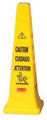 "6276 36"" SAFETY CONE-CAUTION ENGLISH/SPANISH"