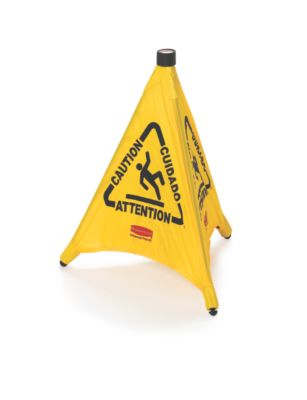 "9S00 POP-UP SAFETY CONE 20"" W/ MULTI-LINGUAL ""CAUTION"" IMP"