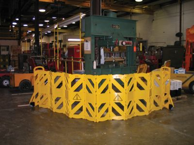 MOBILE BARRIER-PORTABLE 9S11 YELLOW
