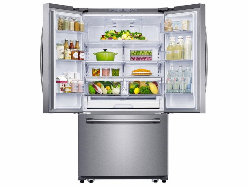 Samsung Rf261beaesr 26 Cu Ft French Door Refrigerator With