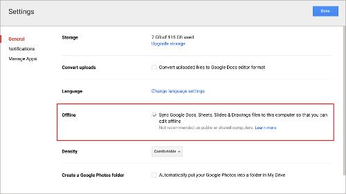 Using Google Drive Offline - Google documents offline