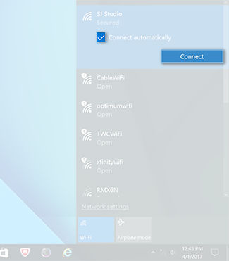 Samsung Connection AIO to a Network