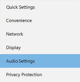 Samsung Settings on the AIO