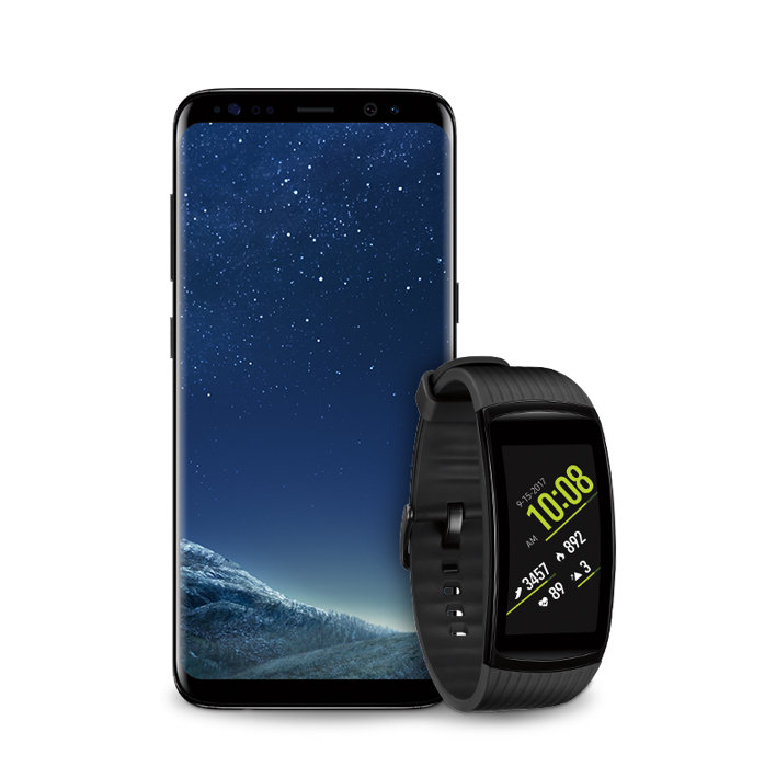 Samsung Gear Fit2 Pro Android and iOS compatible.