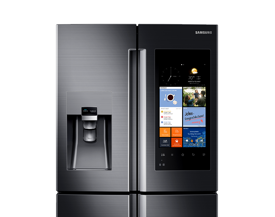 Refrigerator with Family Hub Black Stainless Steel
