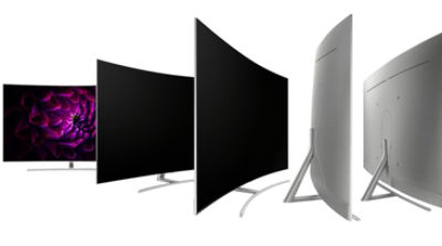 Curved boundless 360o design™ with metal back