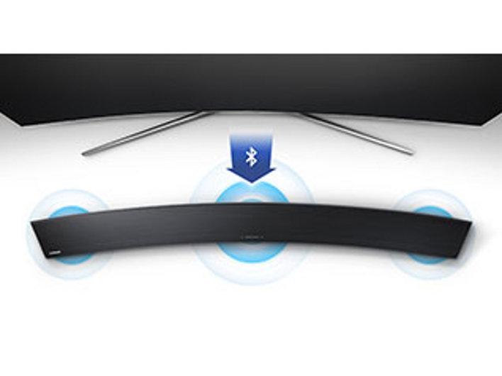 new samsung 2 1 channel 300 watt curved soundbar wireless subwoofer hw jm4000c ebay. Black Bedroom Furniture Sets. Home Design Ideas