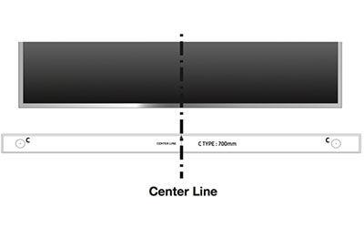 align the center line