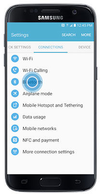 navigate to the bluetooth menu on your phone