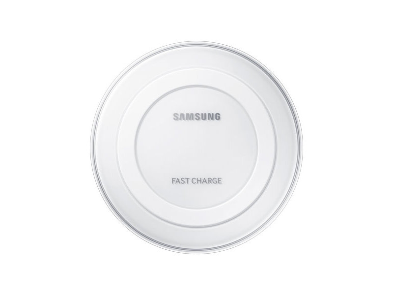 How do you charge a Samsung device wirelessly?