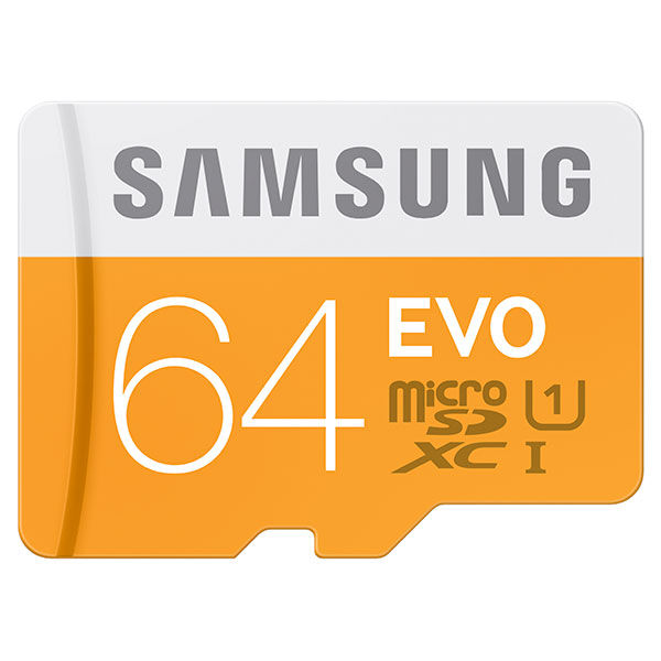 MicroSDXC EVO Memory Card w/ Adapter 64GB