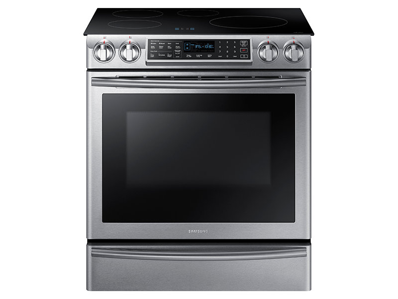 5 8 cu ft slide in induction range with virtual flame Samsung induction range