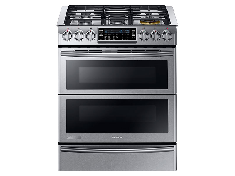5 8 Cu Ft Slide In Dual Fuel Range With Flex Duo And