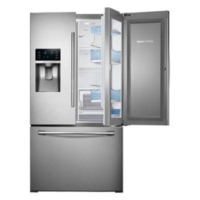 28 cu ft 3 door french door food showcase refrigerator refrigerators rf28hdedbsr aa samsung us. Black Bedroom Furniture Sets. Home Design Ideas
