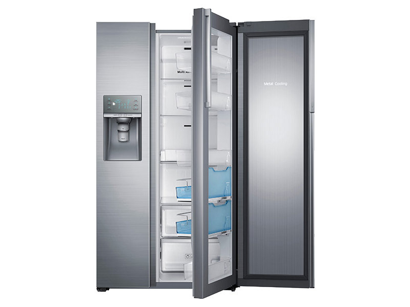 29 cu ft side by side food showcase refrigerator with metal cooling refrigerators. Black Bedroom Furniture Sets. Home Design Ideas