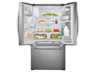 Thumbnail image of 28 cu. ft. 3-Door French Door Food ShowCase Refrigerator with Dual Ice Maker