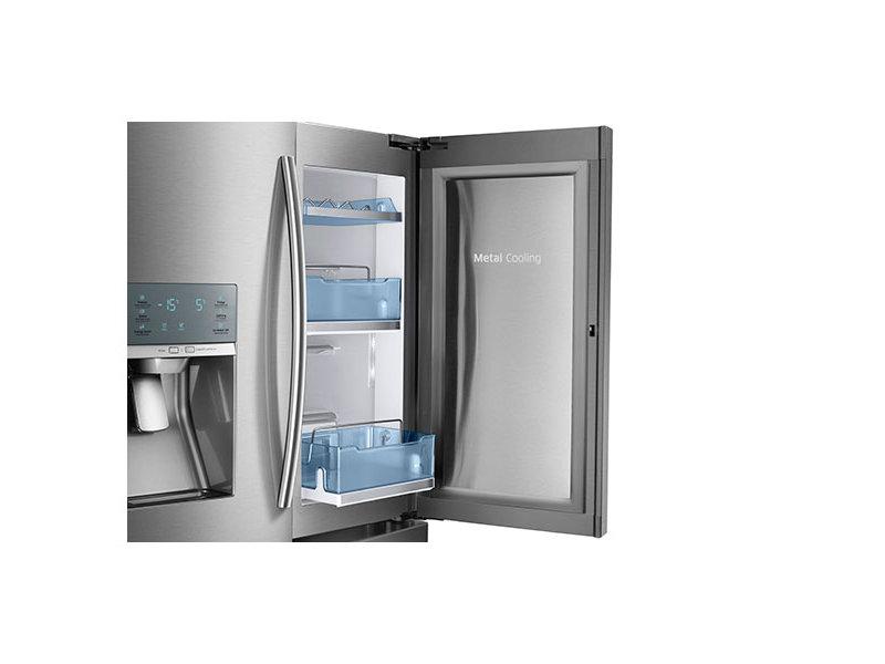 Showcase Glass Doors #5: 4-Door French Door Food Showcase Refrigerator