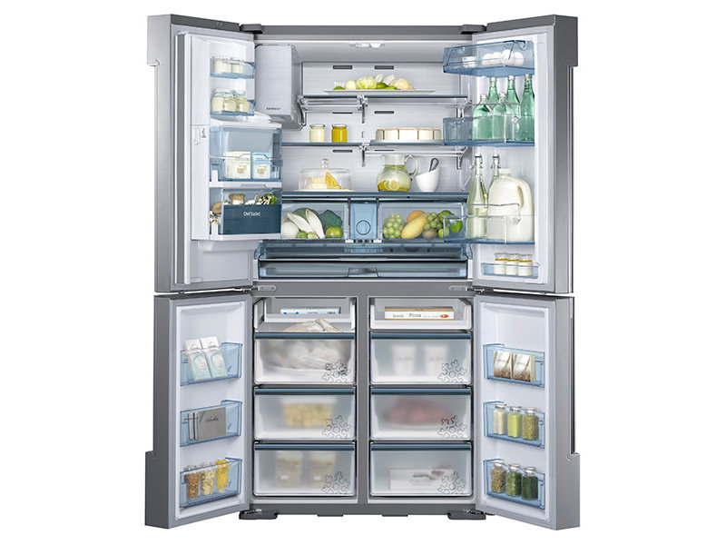 34 Cu Ft 4 Door Flex Chef Collection Refrigerator With