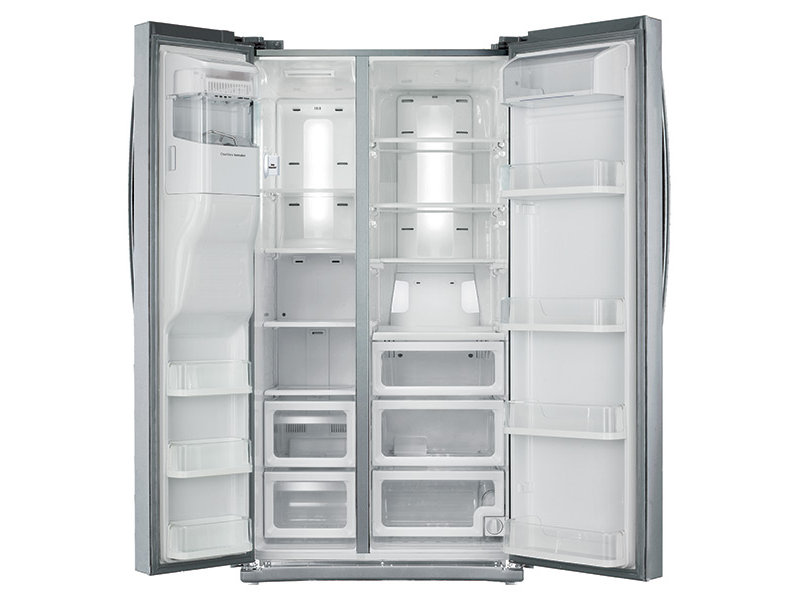 24 5 Cu Ft Side By Side Refrigerator With In Door Ice