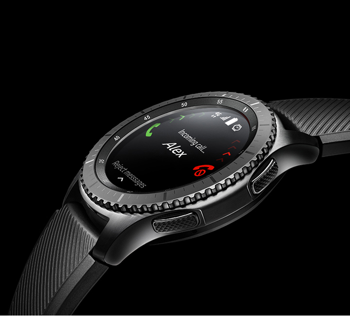 4G LTE Gear S3 with incoming call
